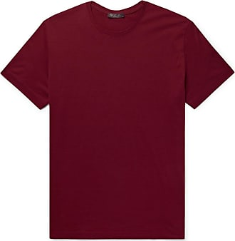 Loro Piana Slim-fit Silk And Cotton-blend Jersey T-shirt - Red