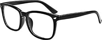 Inlefen Blue Light Blocking Glasses Vintage Filter Computer Eyeglasses Square Full Frame Anti Headache Eyestrain For Women and Men(Black)