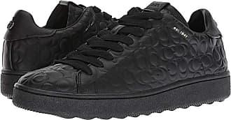 Coach Signature C Leather Deboss C101 Low Top Sneaker (Black) Mens Shoes
