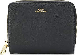 A.P.C. Carteira com logo - Preto