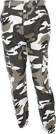 junkai Women Camouflage Pants - Ladies Loose Leisure Multi-Pocket Jeans Military Army Camouflage Sports Jogging Trousers Grey M