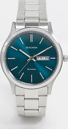 Sekonda bracelet watch in silver with blue dial exclusive to Asos