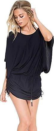 Luli Fama Womens Cosita Buena South Beach Dress, Black, Large