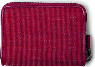 MQaccessories Small Zip Wallet in Horsehair Fabric with Boxcalf Leather Lining