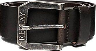 REPLAY Cintura in Pelle Marrone AM2417