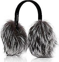 Barneys New York Womens Fox-Fur Earmuffs - Gray