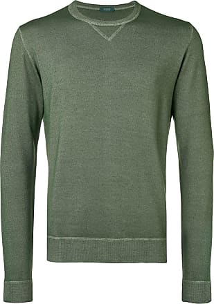 Zanone Suéter de tricô slim - Verde