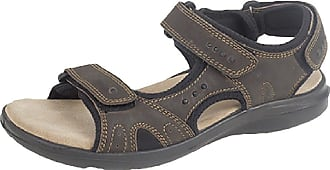 Roamers Mens Leather Summer Sandals. Touch Fastening Strap Adjustment. Real Leather. Sizes 6-12 UK Brown