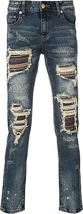 Gods Masterful Children Soto stripe panel distressed jeans - Blue
