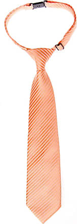 Retreez Woven Pre-tied Boys Tie with Stripe Textured - Light Orange - 4-7 years