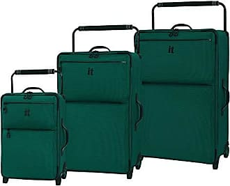 IT Luggage IT Luggage Worlds Lightest Los Angeles 2 Wheel 3 Piece Set, Alpine Green