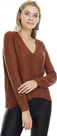 Jacqueline de Yong Womens Jdymegan L/s Pullover KNT Noos Jumper, Red (Smoked Paprika Detail: Melange), 12 (Size: Medium)