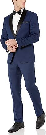 Vince Camuto Mens Slim Fit Tuxedo, Navy Solid, 38 Regular