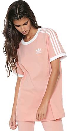 adidas Originals Camiseta adidas Originals ADICOLOR 3 Stripes Tee Rosa