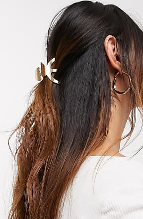 Asos hair clip in textured claw design in gold tone