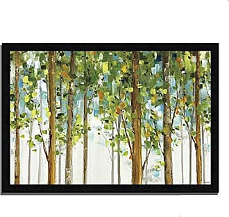 Tangletown Fine Art Forest Study I by Lisa Audit Framed Art, Green/Tan/Blue