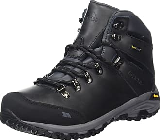 Trespass Cantero, Black, 44, Waterproof Hiking Boots for Men, UK Size 10, Black