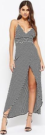 Forever 21 Forever 21 Striped Tulip-Hem High-Low Dress Black