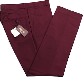 Relco Mens Classic Burgundy Stay Press Trousers Size 38
