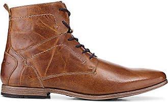 Cox Herren Herren Schnür-Boots aus Leder, brauner Freizeit Stiefel mit  robuster Laufsohle braun cb809c72ac