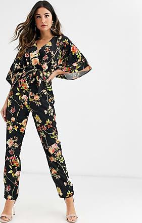 Unique21 Unique21 - Tuta jumpsuit a fiori con maniche a kimono-Multicolore