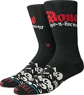 Stance Socks Stance Mens New Classic Crew Anthem Skull Bones Comfort Black Socks