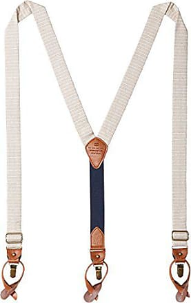 Tommy Hilfiger Mens 30mm Horizon Stripe Suspender, Khaki, One Size