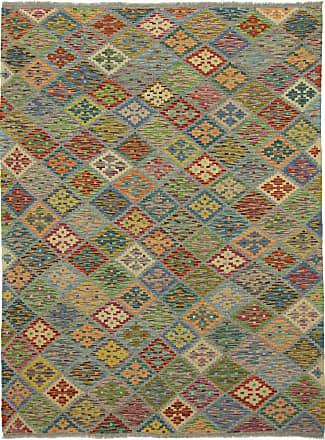 Nain Trading 239x178 Kilim Afghan Rug Dark Grey/Brown (Afghanistan, Wool, Handwoven)