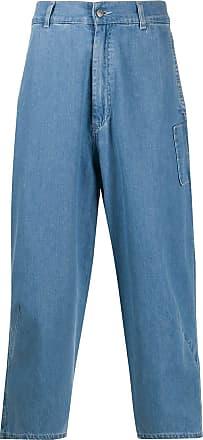 Henrik Vibskov Jeans crop Hang a vita alta - Di colore blu