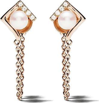 Yoko London 18kt yellow gold Trend freshwater pearl and diamond earrings - 6