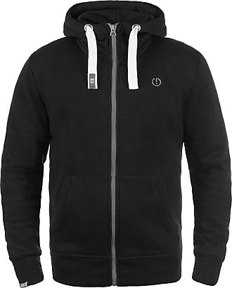 Solid Benn High-Neck Mens Sweatjacket, Size:S, Colour:Black (9000)