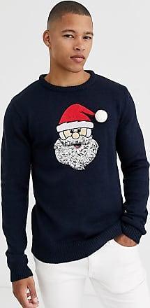 Brave Soul Santa kersttrui-Marineblauw
