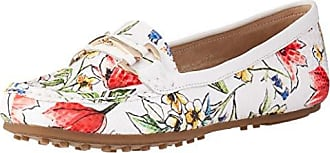 Aerosoles Womens Drive Along Style Loafer, White Floral, 12 W US