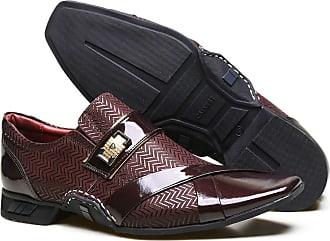 Calvest Sapato Social em Couro Nobuck com Textura e Costuras Manuais Calvest - ZM3660C999-002 Bordô-38