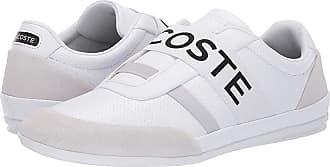 ebbab98938c3f0 Lacoste Misano Elastic 119 1 U (White Light Grey) Mens Shoes