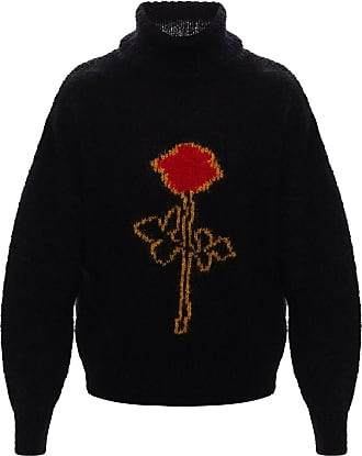 Palm Angels Mohair Roll Neck Sweater Mens Black