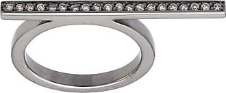 Jack Vartanian Anel Line ouro branco 18k ródio negro e diamantes - Prateado