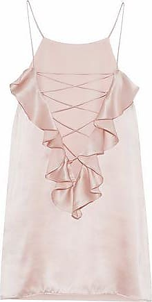 854c95e53bc2b Cami NYC Cami Nyc Woman The Ruffle Charlie Lace-up Silk-charmeuse Camisole  Pastel