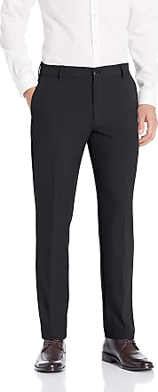Van Heusen Mens Flex 3 Dress Pant, Black, 34W x 30L