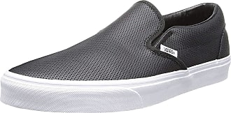 Vans Classic Slip-On, Unisex Adults Low-Top Sneakers, Black (Perf Leather/Black), 5.5 UK (38.5 EU)