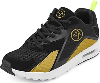Zumba Athletic Air Classic Gym Fitness Sneakers Dance Workout Shoes for Women, Gold 1, 10.5