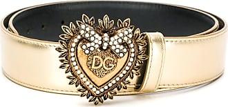 Dolce & Gabbana Cinto com fivela Devotion - Dourado