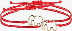 Yvonne Léon Womens 113 - Red Red 9k Yellow Gold Elephant Bracelet