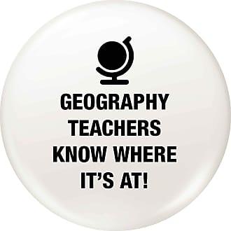Flox Creative 77mm Pin Badge Geography Teachers Know