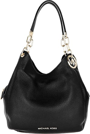 Michael Kors Tote - Lillie Large Chain Shoulder Tote Bag Black - black - Tote for ladies