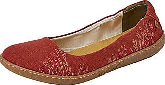 2814b86eab0 El Naturalista Womens N5300T Seaweed Canvas Caldera Coral Ballet Flat 37  Medium EU (7