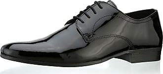 Redtape Southill Lace Up Formal Dress Patent Black Leather Mens Shoes