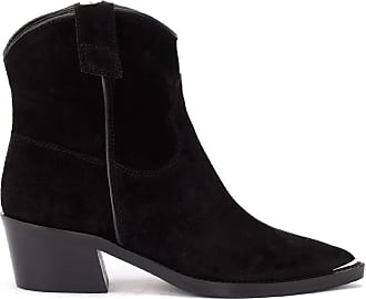 Via Roma 15 Texan Ankle Boot in Black Suede
