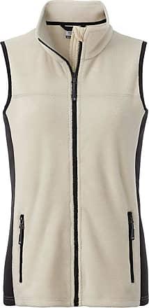 James & Nicholson JN855 Womens Workwear Fleece Vest/Gilet Stone/Black M