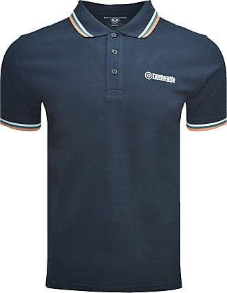 Lambretta T-Shirt Polo Triple Tipped Collar Mens Small - 4X Large (UK 3X Large, Navy/White/Ocean/Carnelian)